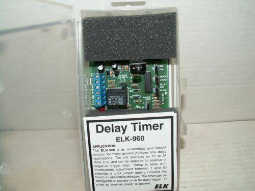 NIB ELK-960 DELAY TIMER 12/24 VOLTS DC FOR GENERAL-PURPOSE APPLICATIONS