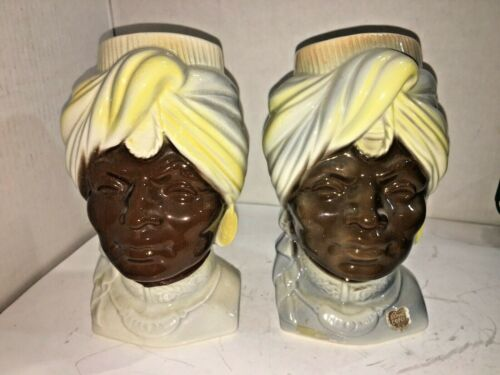 (2) VINTAGE ROYAL COPLEY CERAMIC SULTAN WALL POCKETS