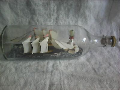 Vintage Ships in Diorama Square-Cut Bottle