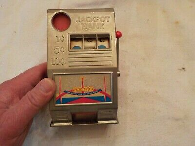 VINTAGE JACKPOT SLOT MACHINE STYLE  BANK RENO THE BIGGEST LITTLE CITY IN AMERICA for sale  Shipping to Canada