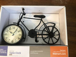 Better Homes & Gardens Vintage Metal Bicycle Table Clock Design Rustic Décor