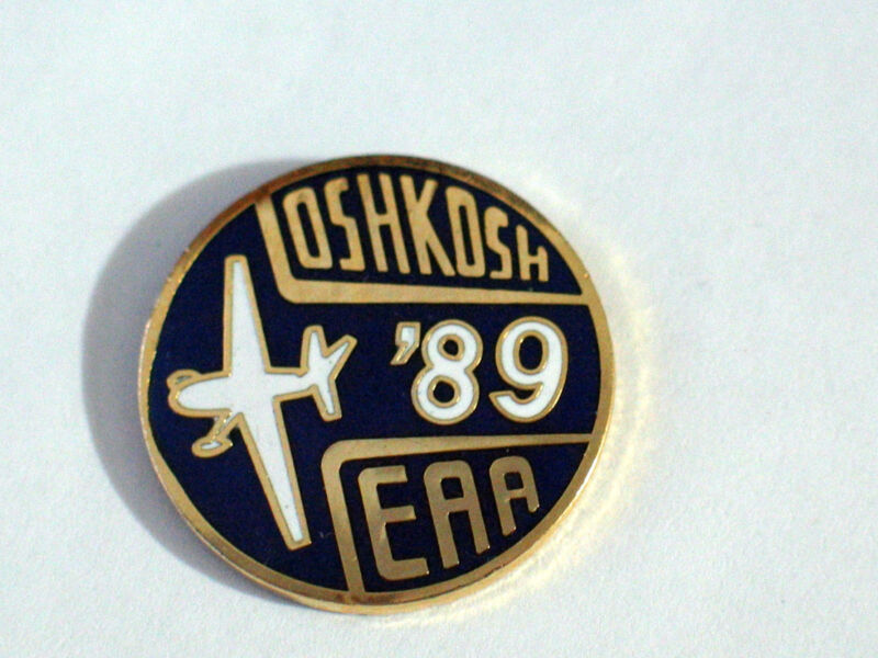 Oshkosh Airshow Pin  , 1989 EAA Lapel Pin, Aircraft Cloisonne