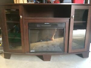 Media cabinet/fireplace