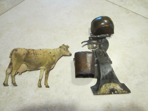 antique DeLaval tin litho cow and separator advertisements