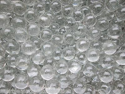 """MARBLE BULK LOT 2 POUNDS OF  5/8"""" CLEAR GLASS CRYSTAL MARBLES FREE SHIPPING"""