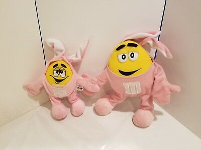 Set of 2 Matching Yellow M&M Plush Chocolate Candy Dressed Bunny Rabbit Costumes - M&m Candy Costume