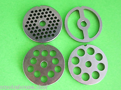 8 4-pc Set 4 Grinding Plates For Lem Cabelas Mtn Etc. Meat Grinder Or Mincer