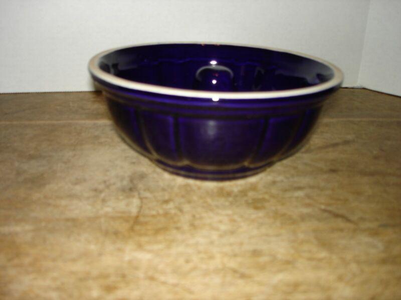 Stoneware Pottery Bundt Cake Pan Mold Cobalt Blue 4 Cup