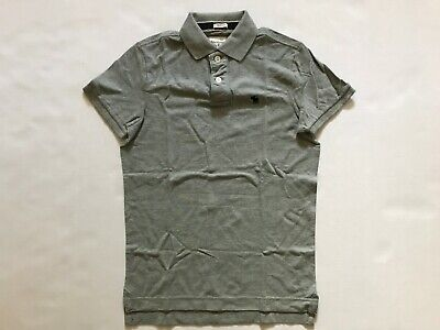 NWT Abercrombie & Fitch Men's Polo Shirt Muscle Fit Light Grey Size S, XXL
