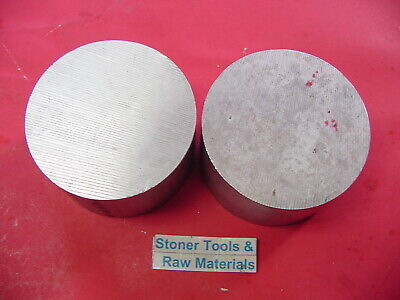 2 Pieces 2 Aluminum Round Rod 6061 Bar 1.5 Long Solid T6511 Extruded Bar Stock