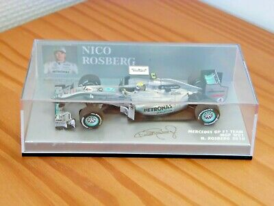 MINICHAMPS MERCEDES GP F1 TEAM MGP W01 NICO ROSBERG 2010 OP 1/43 RARE !!!!