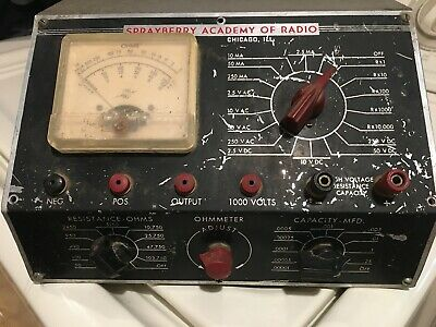 Vintage Rare Mid-50s Sprayberry Academy Of Radio Volt Ohm Multimeter Vom.