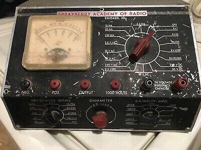 Vintage Rare Mid-50s Sprayberry Academy Of Radio Volt Ohm Multimeter Vom.