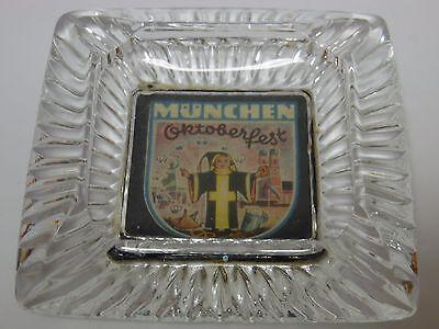 Antique Vtg 1950s MUNICH GERMANY MUNCHEN OKTOBERFEST BEER ADVERTISING ASHTRAY