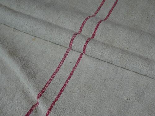 Antique European Feed Sack GRAIN SACK Red Stripe # 10217