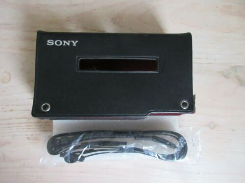 SONY Walkman WM-D6C Professional Cassette Player Case w/Strap - MINT Condition
