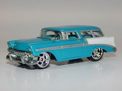 Hot Wheels 100% LE 1956 Chevrolet NOMAD Hot Rod Aqua White Near MINT+ Loose VHTF