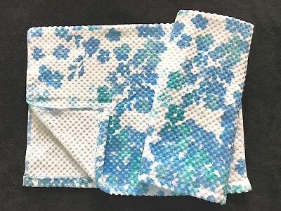 PERI - FLOATING FLOWER - AQUA BLUE TURQUOISE - HAND TOWELS - SET OF 2 - NEW ()