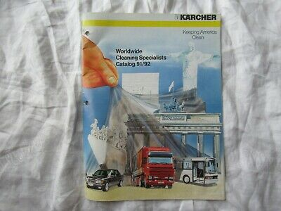 Karcher Cleaning Equipment Catalog Brochure Pressure Washers Vacuum Cleaners