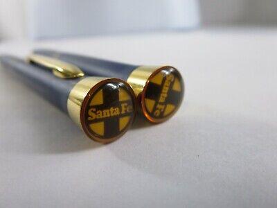 Vintage Garland Bubble Top Santa Fe Railroad Mechanical Pencil Pen Set RP4