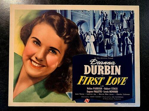 FIRST LOVE 1939 ORIGINAL TITLE LOBBY CARD, DEANNA DURBIN