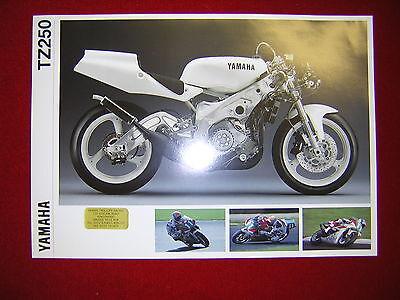 Yamaha TZ250 1992 Specification Sheet. Printed by Yamaha UK. New,