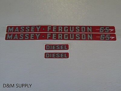 Massey Ferguson 65 Diesel Decal Set Tractor Stickers