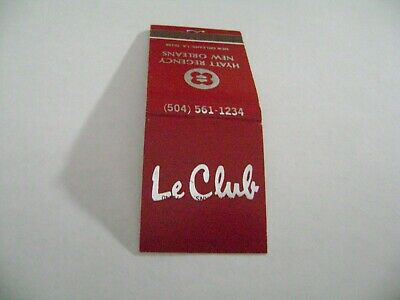 "1- Match Book, ""LE CLUB"", Hyatt Regency Hotel, New Orleans, LA., complete."