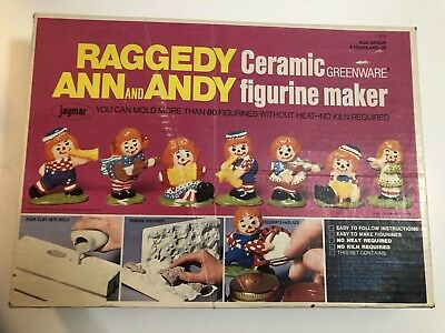 Raggedy Ann And Andy Ceramic Figurine Maker Andy Doll Maker