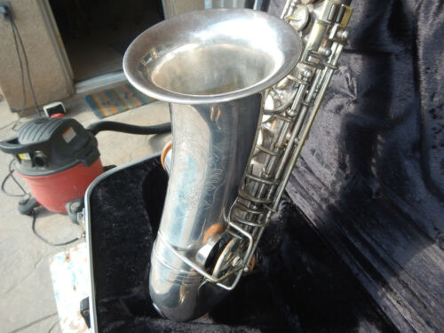 Vintage Buffet Silver Plated Apogee Model Alto Saxophone Free Ship ! Make Offer