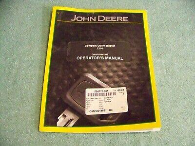Oem John Deere 2210 Compact Utility Tractor Operators Manual Omlvu14661
