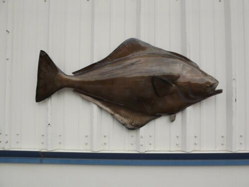 """47"""" Halibut Half Mount Fish Mount Replica - 20 Business Day Production Time"""