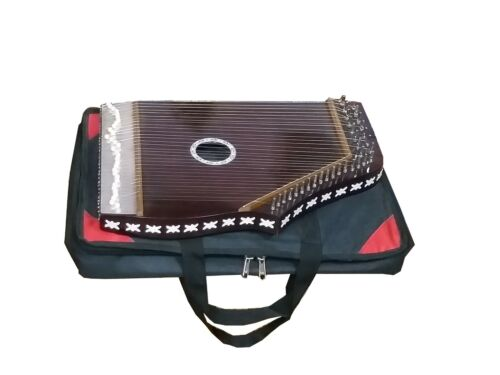 SWARMANDAL~HANDMADE INDIAN~HARP~SURMANDAL~WITH  TUNING KEY AND CARRY BAG~CHANT~M