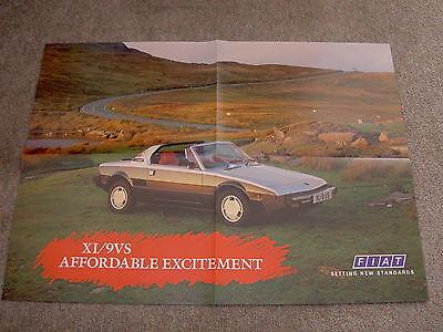 Fiat X1/9 VS - Original Sales Poster Brochure (X19)