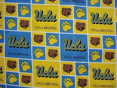 """TWO YARDS UCLA Bruins Cotton Fabric #UCLA020, 44"""" wide"""