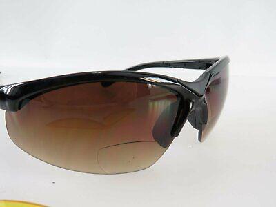 EAGLE FIVE Black Sun Sportbrille Sonnenbrille mit Lesezone Lesebrille +2,0