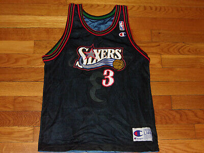 CHAMPION 76ERS ALLEN IVERSON/STEPHEN MARBURY BASKETBALL JERSEY BOYS LARGE EXC.