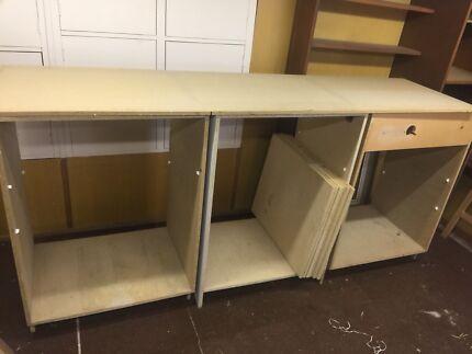 Cabinet bench chip board garage Home art room