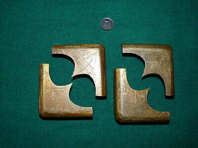 Writing Slope / Box Restoration - Set of Four Large Well Made Brass Box Corners