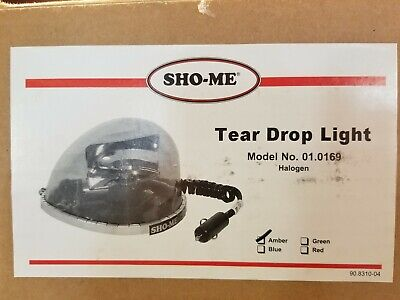 Sho-me Tear Drop Light Halogen Amber Model No. 01.0169
