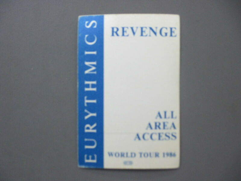 Eurythmics backstage pass satin sticker AUTHENTIC World Tour 1986 All Area !