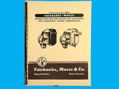Fairbanks Morse Magneto Instruct Parts Manual For Fm-x1-2b7 Fm-xe1-2b7 416