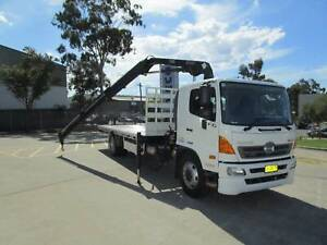 ** 2017 HINO FG 1628 TRAY TOP WITH CRANE ** Arndell Park Blacktown Area Preview