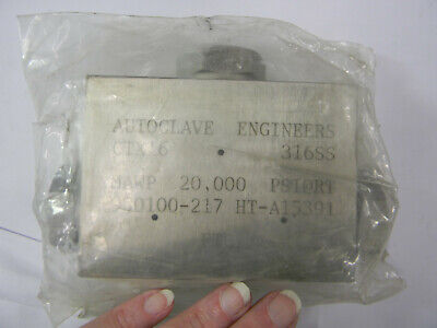 New Parker Autoclave Engineers Ctx16 Medium Pressure Tee Fitting  D4