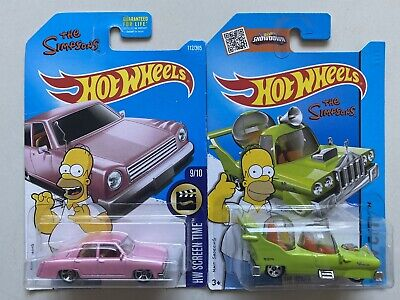 Hot Wheels The Simpsons Set of 2 BRAND NEW: Family Car & The Homer
