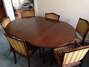 Chiswell Dining Table/chairs Bexley Rockdale Area Preview