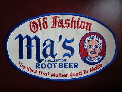 MA'S OLD FASHION ROOT BEER UNIFORM PATCH - 10 X 6 VINTAGE RARE ORIGINAL!