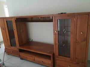 Solid Wood TV Unit Taren Point Sutherland Area Preview