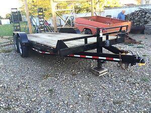 18' flat deck trailer