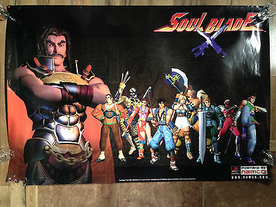 Soul Blade Original Store Display Poster Promo Playstation Ps1 Edge